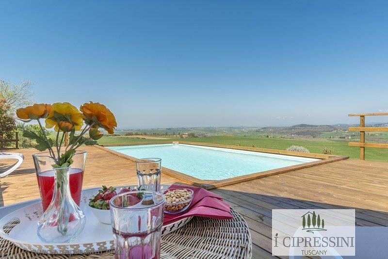 The original symbol of Tuscany: luxury villa, pool, spa in Tuscany Pienza Siena, alquiler vacacional en Pienza