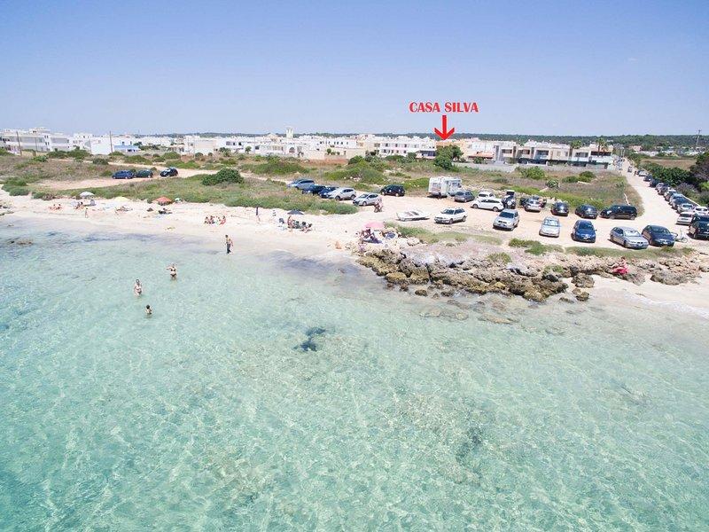 Casa Silva front beach, holiday rental in Lido Marini