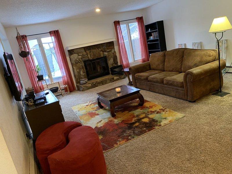 First floor livingroom with sleeper sofa, sleeps 2