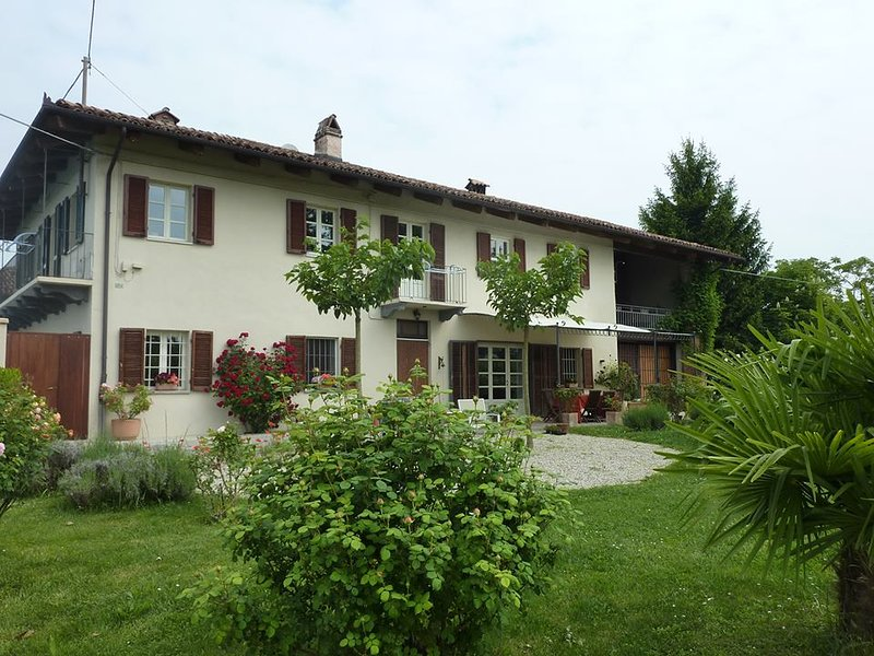 You will be staying on the upper floor of this large, renovated traditional farmhouse (cascina)