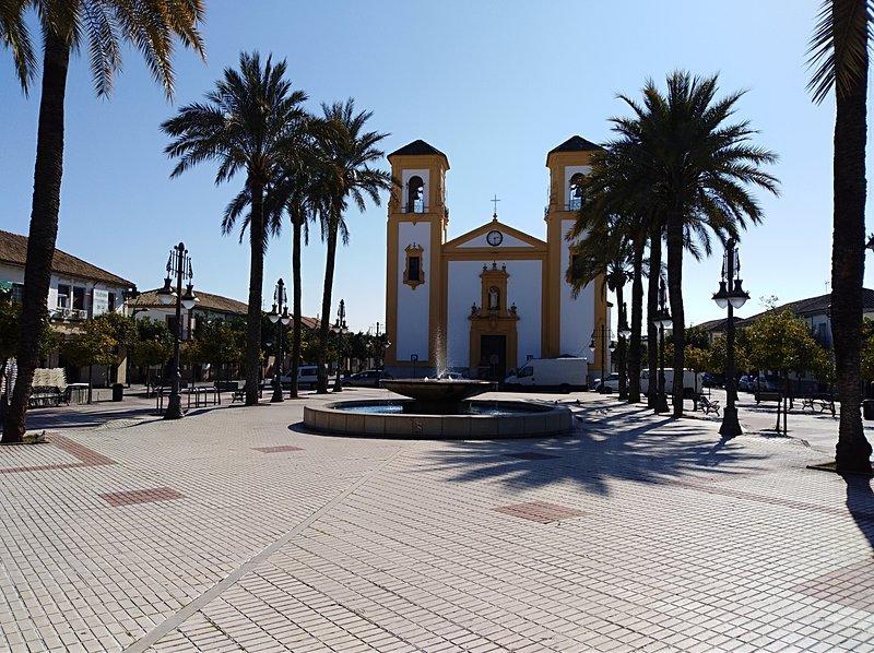 plaza del barrio donde se ubica la casa