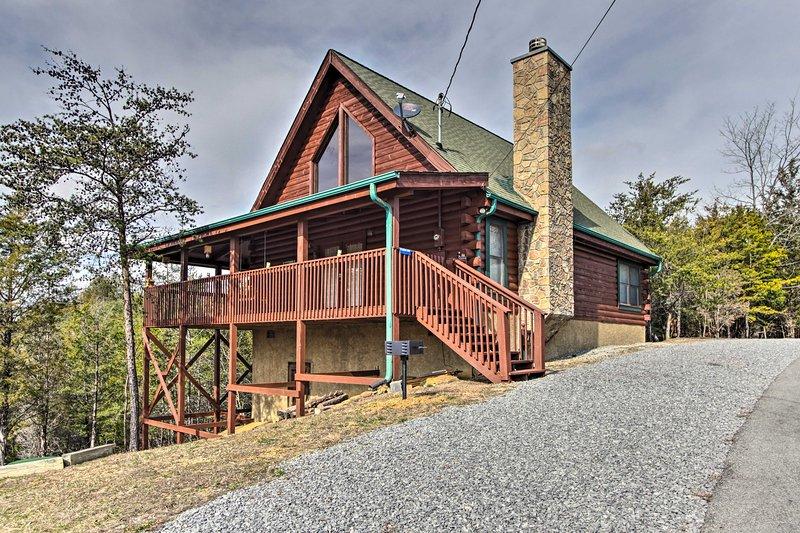 Esta casa de alquiler vacacional forma parte de la comunidad de Douglas Lake.