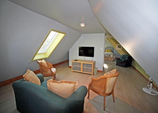 Third floor twin bedroom TV room