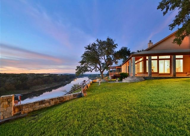 Regal Riverfront Home w/ 2 Cabins & Private Boat Dock - 2 Miles to Marina!, holiday rental in Spicewood