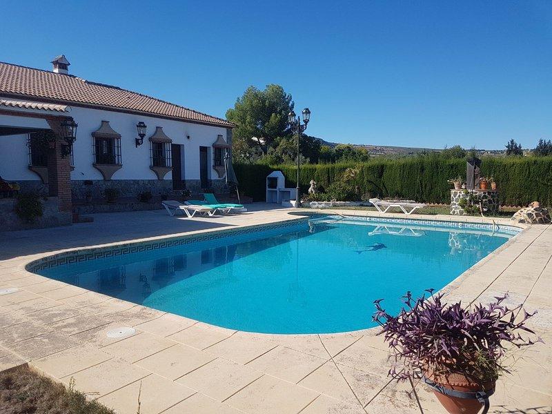 Amazing house with swimming-pool, alquiler de vacaciones en Setenil de las Bodegas