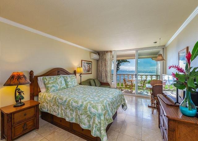 Unidad de estudio frente al mar con cama doble