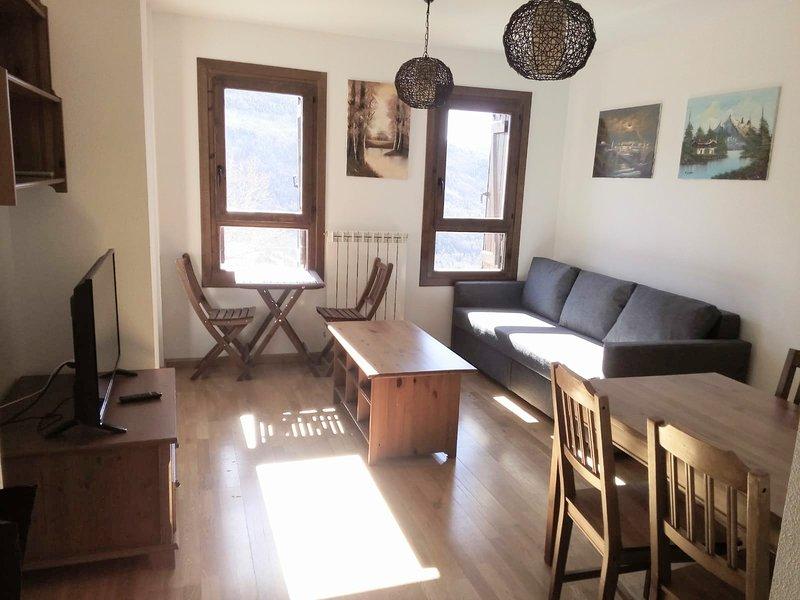 Apartamento en Cerler con vistas maravillosas a las pistas y valle de Benasque., holiday rental in Bisaurri