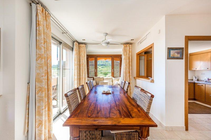 Sala da pranzo Casa vacanza 5 camere da letto con vista sulla piscina e sul mare a Mijas Costa, Costa del Sol, Spagna