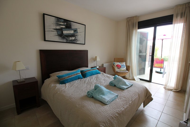 Master Bedroom, direct access to patio