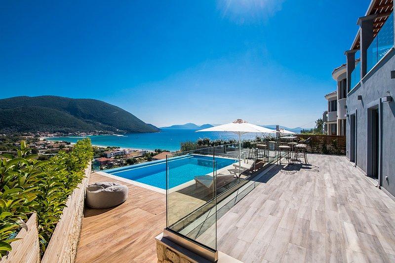 Stunning Villa Ostria With Private Pool In Vasiliki, aluguéis de temporada em Ponti Agiou Petrou