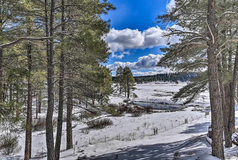 The wooded lot offers plenty of privacy for your next trip to Flagstaff, AZ!