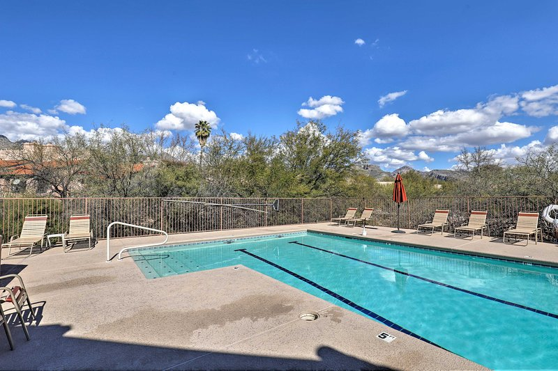 This house boasts access to community amenities, including a pool!