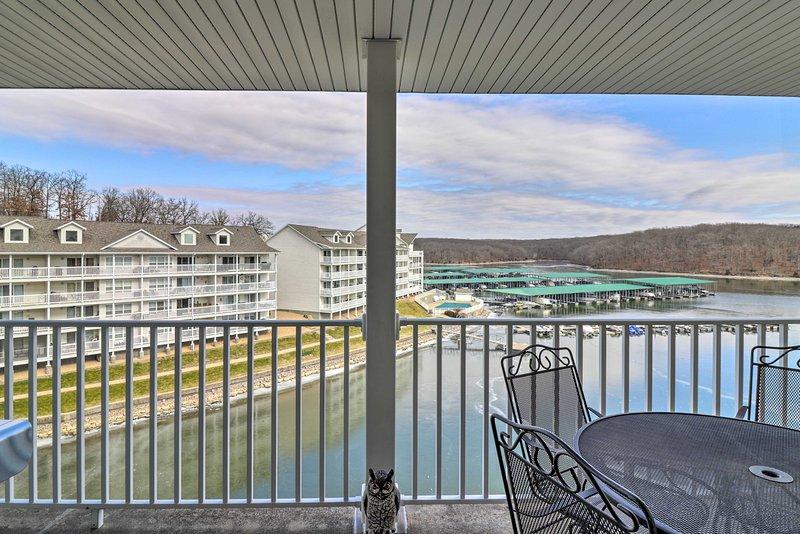 Unwind in this lakefront 2-bedroom+loft, 3-bath vacation rental condo.