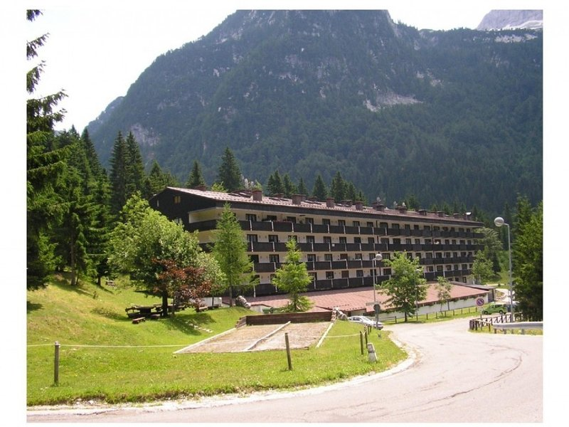 BUCANEVE-RESIDENCE-Appart.1camera P.3° Box macchina  con retrostante dep.scii, holiday rental in Tarvisio