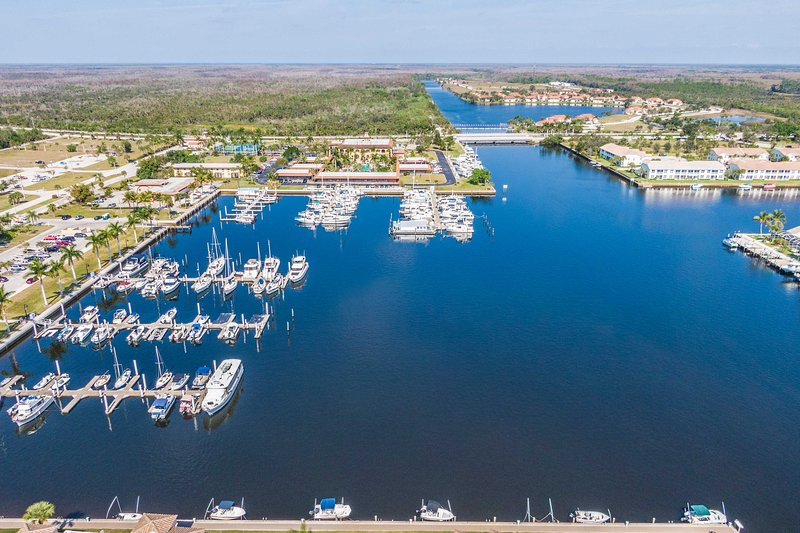 Explore the pristine waterways with a boat rented at the Marina next door!
