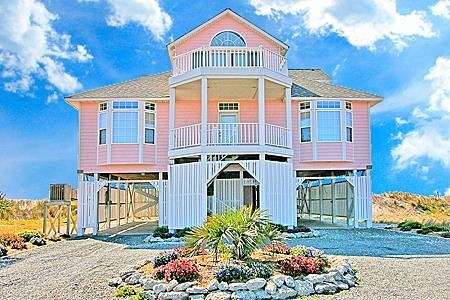 1204 New River Inlet Rd. - 4BR Oceanfront House in North Topsail Beach with Jacu, vacation rental in North Topsail Beach