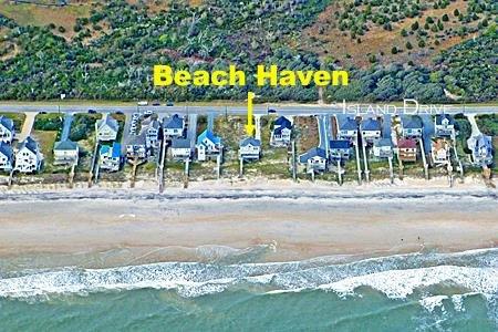 Foto aérea que muestra la ubicación de Beach Haven