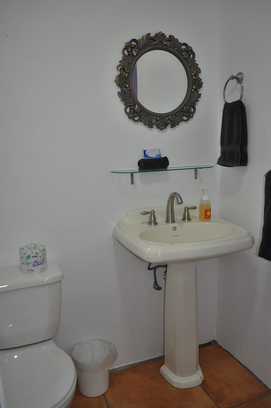 Bathroom in Caracas. Shower not pictured, but is in the room.