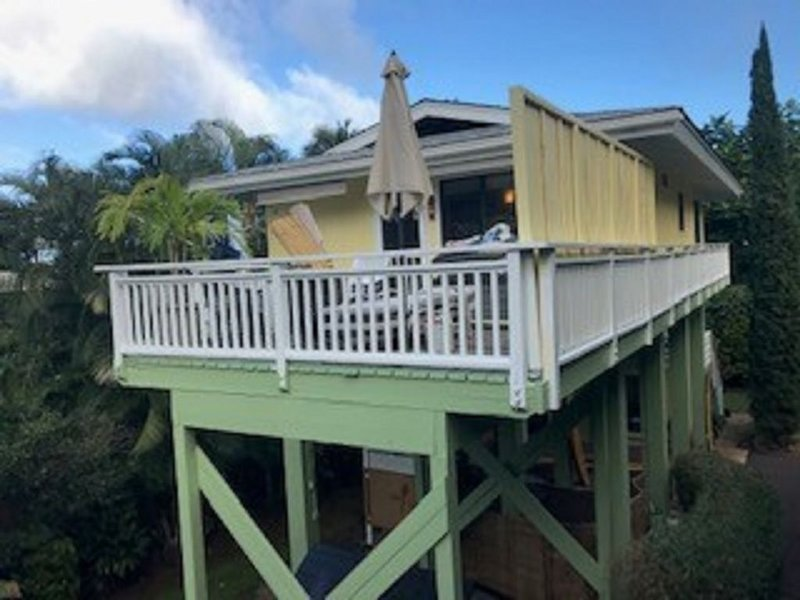 Spacious Deck for relaxation, sun tanning or star gazing at night.