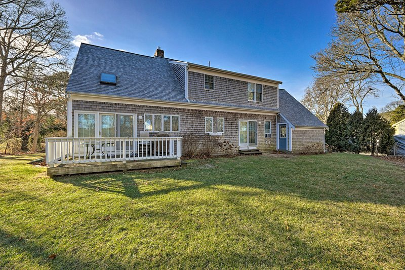 Your Cape Cod area respite awaits at this 4BR/3BA house, which sleeps 11.