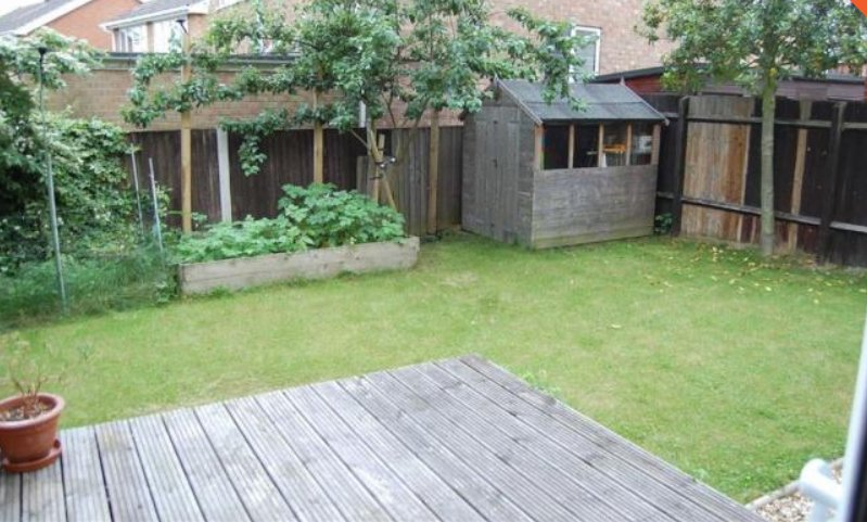 Enclosed rear garden with decking area - outdoor seating is available