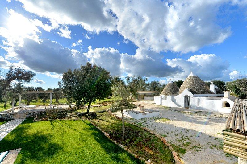 Trullo con piscina privata: esperienze enogastronomiche tra gli ulivi, holiday rental in Villa Castelli