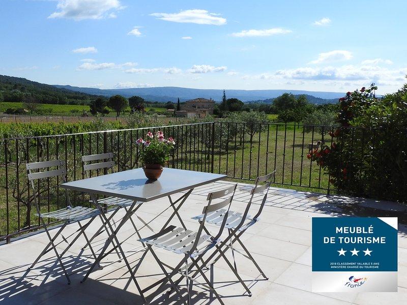 Au cœur des vignes du Luberon - Les Petits Cléments, holiday rental in Villars en Luberon