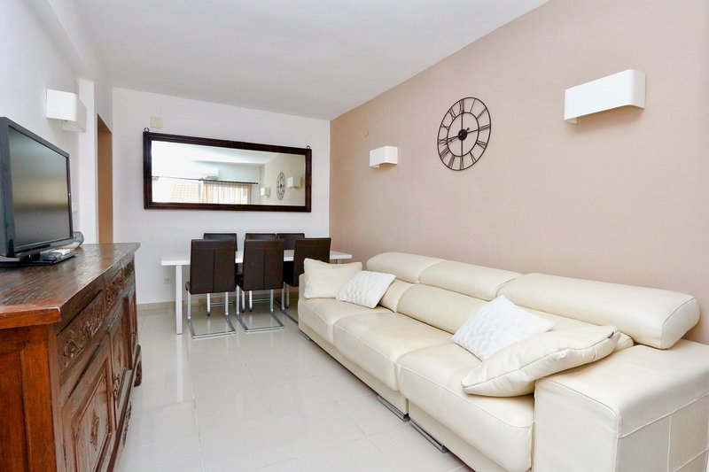 Living room at 3 - bedroom apartment in Calpe just 50 meters from the central sandy beach - Arenal