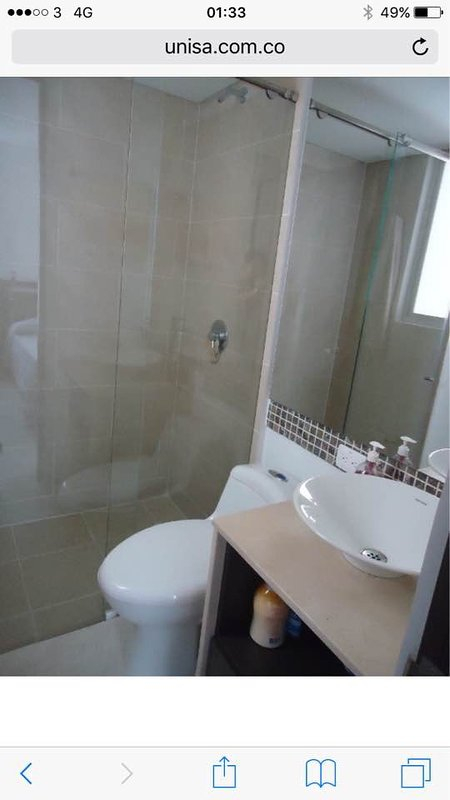 Bathrooms with hot water