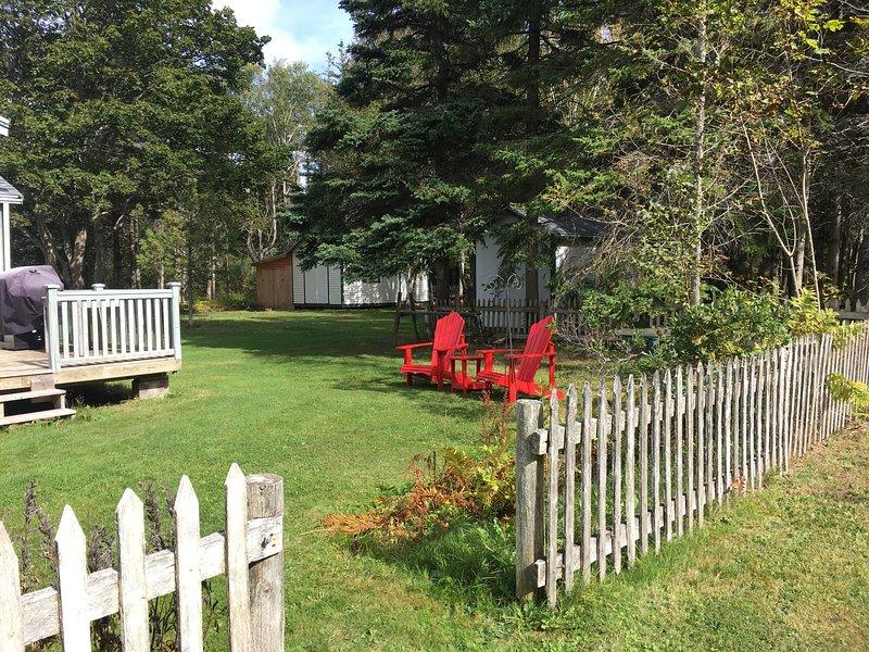 Casa de abeto - patio lateral