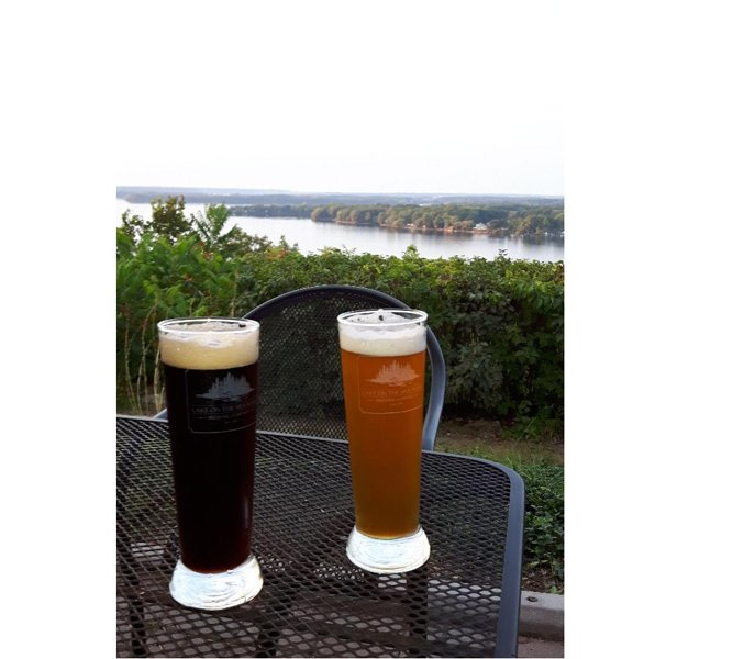 A short walk from our house, Lake on the Mountain Restaurant and Brewery, one of our favourite place
