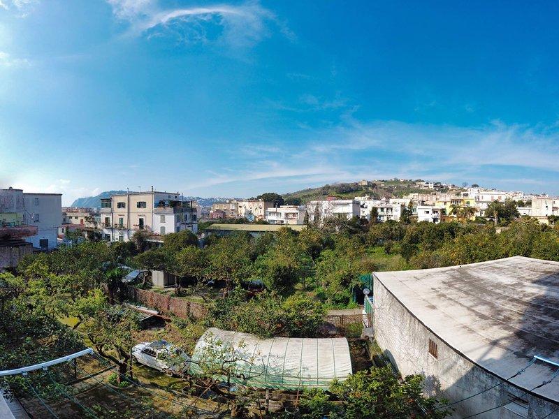 balcon vue sur jardin privé
