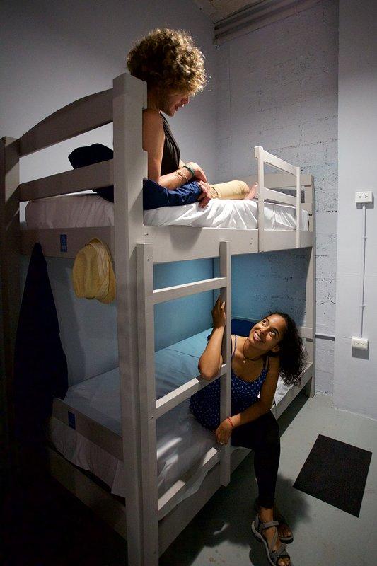 Habitación Tlacuache 4 personas litera habitación hazaña. Aire acondicionado y wifi gratis.