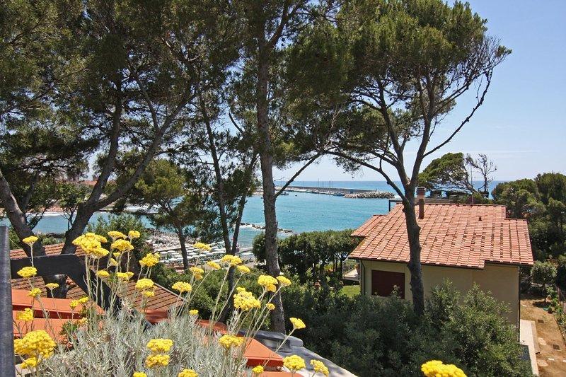 Con solarium vista mare, terrazza - Villa Marina - Quadri Libeccio, vacation rental in Castiglioncello
