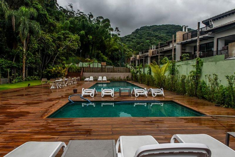 swimming pool condominium - adult and child