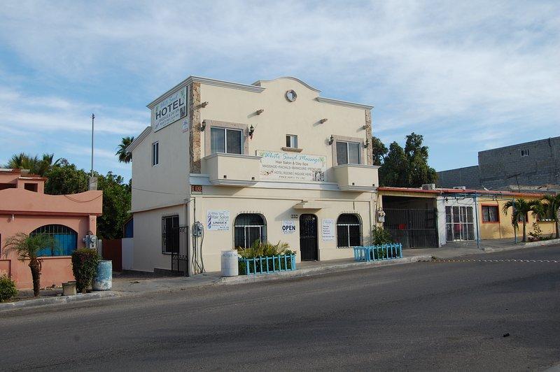 White Sand Hotel sets above the White Sand Spa.