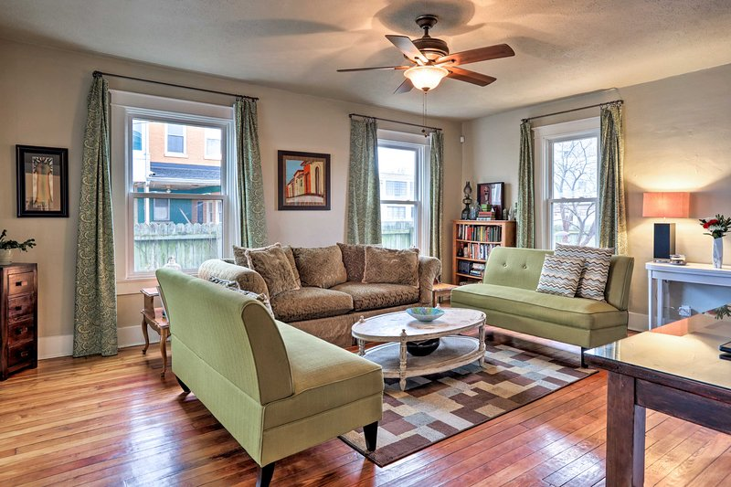 This historic vacation rental is ideally located in New Albany, Indiana.