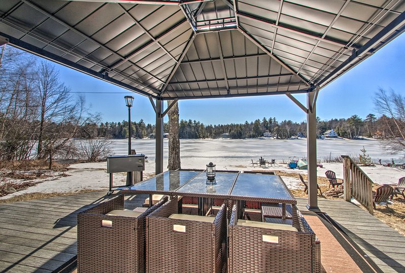 A lakeside getaway awaits at this Barnstead vacation rental home!