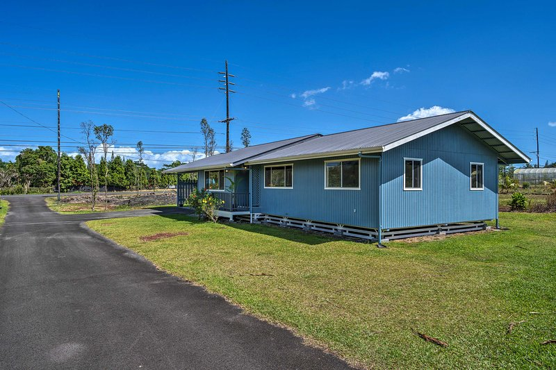 The property is located just minutes from the Hawaii Volcanoes National Park!