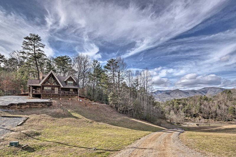 This beautiful home boasts unobstructed Smoky Mountain views!