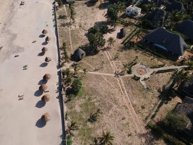 Aerial View of the beach at Karibuni Villas & Resort