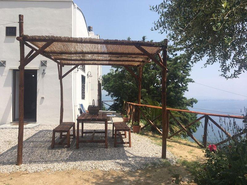 La Casella, casa indipendente all'interno di limoneto con vista sul mare, vacation rental in Erchie