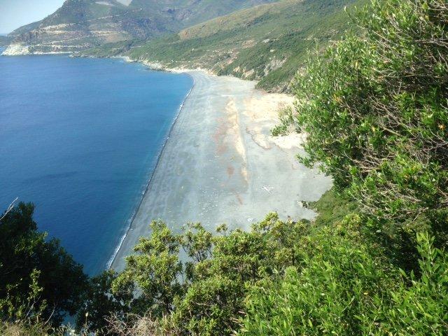 Nonza beach