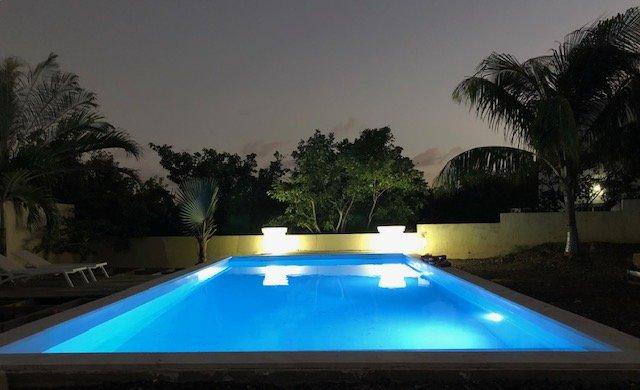 poolen på natten