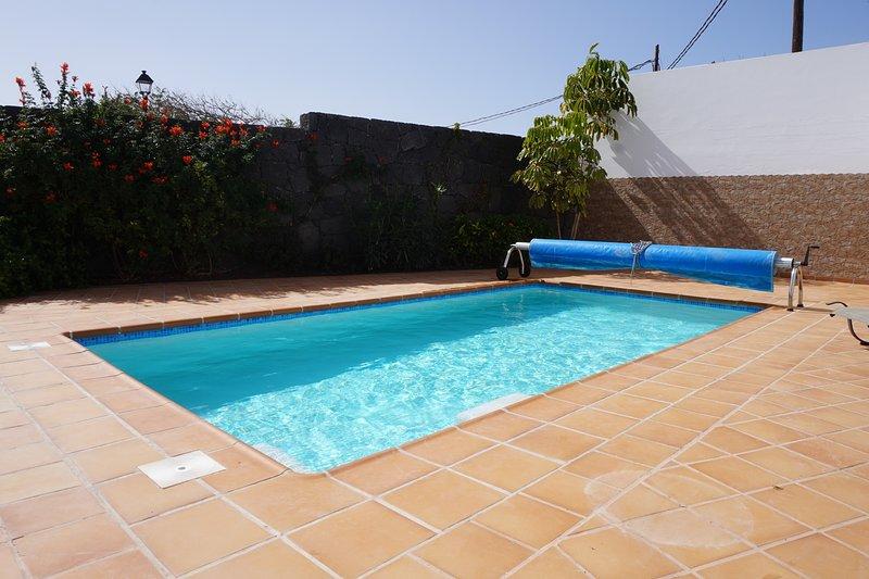 7m x 4m heated pool