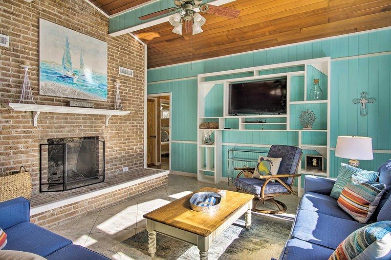La belle propriété a 2 chambres à coucher, 1 salle de bain et peut accueillir 9 personnes.