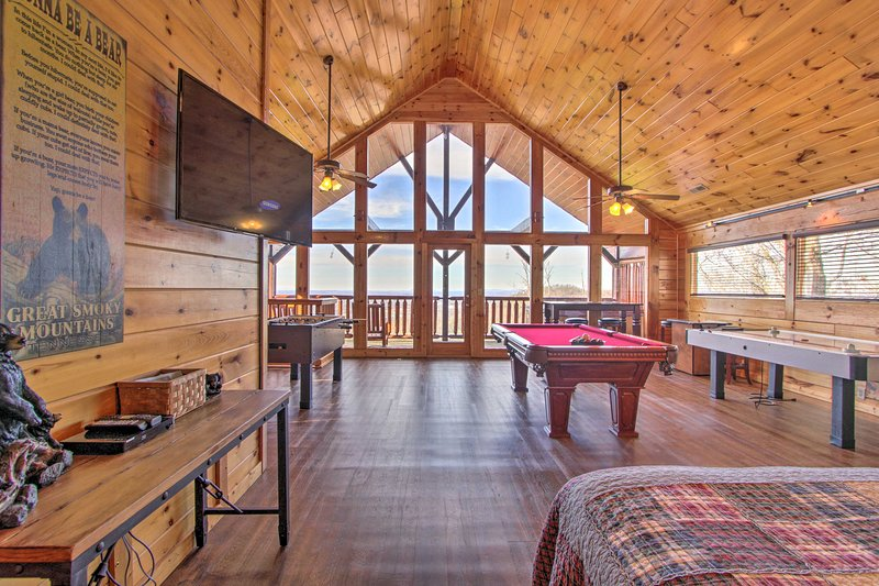 This pristine cabin features a game room and comfortably sleeps 6 guests.