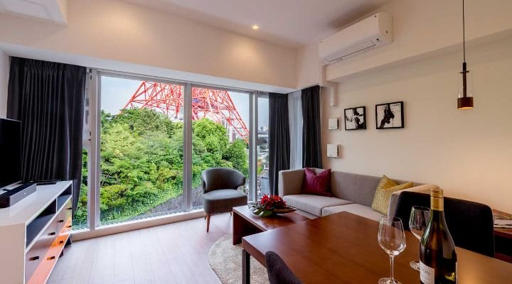 1 BEDROOM APARTMENT WITH STUDY AT AZABUDAI, holiday rental in Nishiazabu