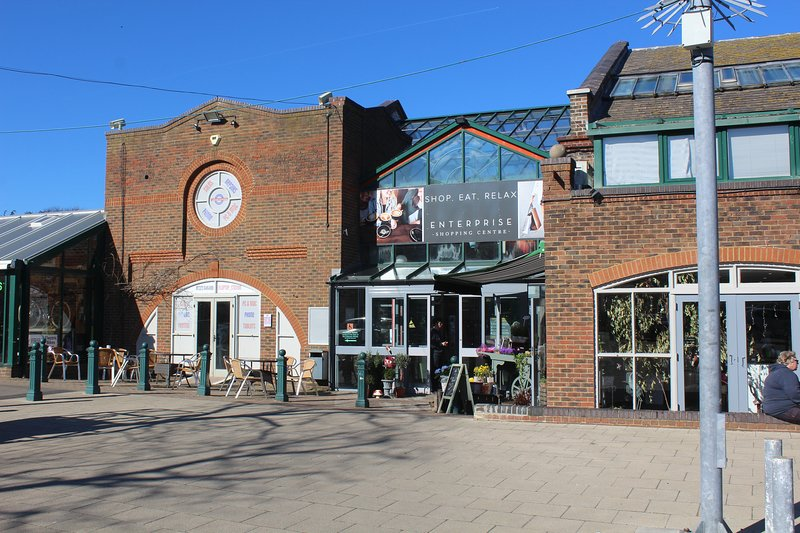 Visit the Enterprise Centre with its many independent shops and cafes next to the station