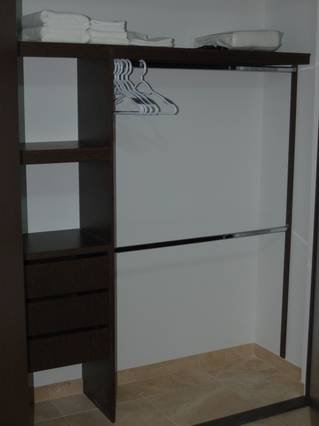 Plenty of closet space for all of your belongings